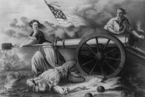 "Photo Credit: ""The Heroine on Monmouth, Molly Pitcher,"" Public Domain"